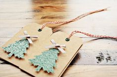 Super cute Christmas tags. Could probably diy