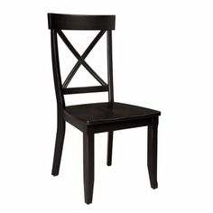 Amazon.com: Home Styles 5178-802 Dining Chairs, Black Finish, Set of 2: Home & Kitchen