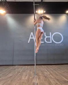 Pole Fitness Moves, Pole Dance Moves, Pole Dancing Fitness, Pole Dance Wear, Yoga Videos, Dance Videos, Workout Videos, Gymnastics Videos, Pole Tricks