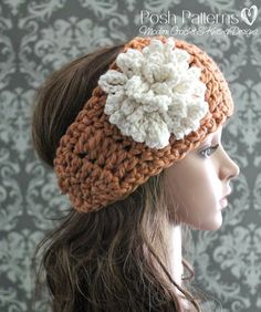 Free Crochet Patterns For Men s Ear Warmers : Grey Crocheted Headband. Kristina, I need this!!! For ...