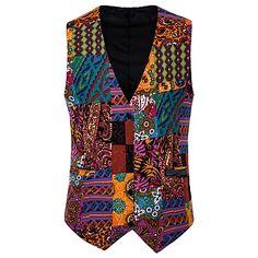 Men's V Neck Blazer Regular Floral Party Work Spring Long Sleeve Black / Red / Royal Blue M / L / XL 2020 - Rs. 4157 Blazers For Men Casual, Casual Suit, Terno Casual, Black Tuxedo Suit, Fall Blazer, Linen Suit, Suit Vest, Active Wear For Women, Aliexpress