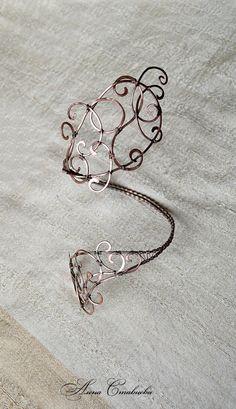 Upper arm wrap Openwork Cooper Jewelry Jewelry by AlenaStavtseva