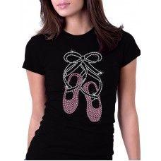 Ballet Shoes Rhinestone Shirt