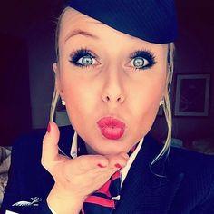 Film Strip, Famous Girls, British Airways, Photo L, Cabin Crew, Flight Attendant, How To Make Money, Pin Up, Beautiful
