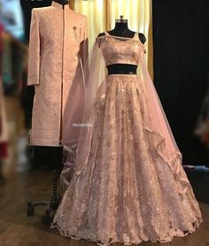 Baby pink silver work lehenga. Click on picture to see Ricco India lehenga price. #Frugal2Fab