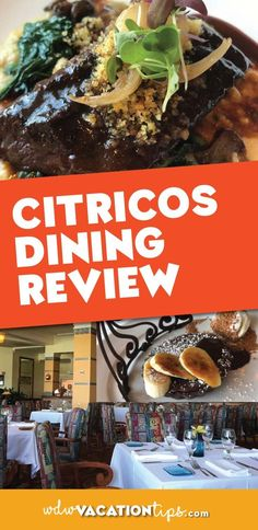 Citricos dining review. Restaurant is located at the Grand Floridan in Walt Disney World.