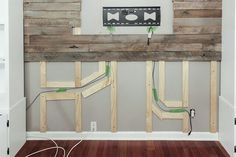 Run cables etc in channels behind the pallet boards