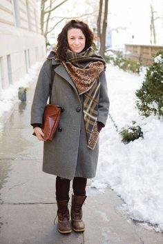 Boots: L.L. Bean Coat: Isabel Marant   - ELLE.com