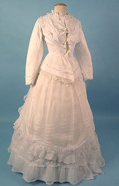 Organdy Wedding Dress c. 1876 Session 2 - Lot 646 - $800