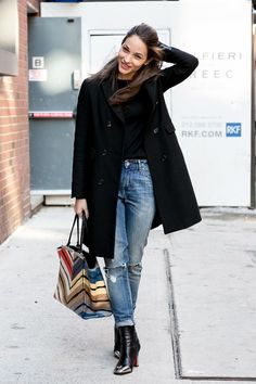 New York Fashion Week 2014 | new-york-fashion-week-autum-winter-2014-street-styleOld-Jeans-trends ...