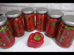 Fashion Painting, Preserves, Pickles, Mason Jars, Stuffed Peppers, Canning, Vegetables, Food, Youtube