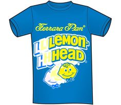 Lemon heads are the one candy I grew up eating the most from ferrara pan. I think it has the most recognizable logo and when people see this shirt they will know what ferrara pan is and what kind of candy they make. It is simple but I think it is bold and eye catching. Ferrara Pan, Lemon Head, All In One, Things To Think About, Candy, Eye, Logo, Simple, Mens Tops