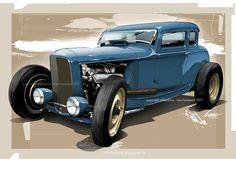 Hot rod Ford 32 3W