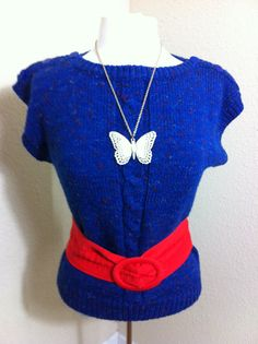 Vintage Karen Scott Blue Short Sleeve by VintageBaublesnBits, $10.00