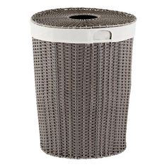 Grey Montauk Round Hamper