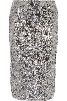 By Malene Birger Poliio sequined pencil skirt | NET-A-PORTER, 375