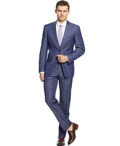 Calvin Klein X Denim Blue Extra-Slim-Fit Suit