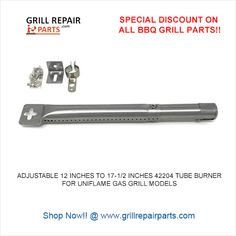 "13.8/"" 20/"" Adjustable 42204 Stainless Steel Tube Burner For Barbecues"