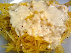 Spaghetti Squash Alfredo Recipe from Grandmother's Kitchen