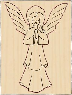 Carve a Christmas Angel – The Woodworkers Institute - Wood Projects Christmas Nativity Scene, Christmas Angels, Christmas Crafts, Christmas Poinsettia, Crochet Christmas, Wood Carving Designs, Wood Carving Patterns, Xmas Drawing, Dremel Wood Carving