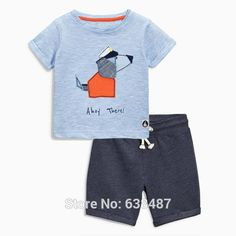 Cute Summer Sets for Boys 18m to 7 - Many colors available