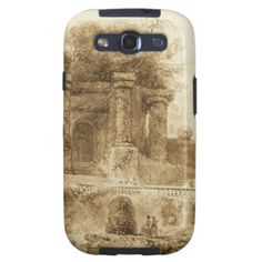 Roman Park with Fountain by Jean-Honore Fragonard Galaxy S3 Case