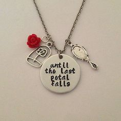 Shop Disney Belle Necklace on Wanelo