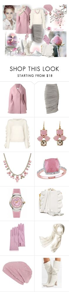 """pink winter"" by lumi-21 ❤ liked on Polyvore featuring Delpozo, Donna Karan, Philosophy di Lorenzo Serafini, Kate Spade, David Yurman, Amour, Salvatore Ferragamo, Milly, Forzieri and Reed Krakoff"