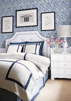 104 Best navy blue and white bedroom images | Diy ideas for home
