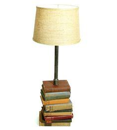 Tall Vintage Books Reading Lamp.