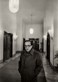 Ismail Kadare (born January 28, 1936), a leading Albanian writer in a Tirana hotel weeks before his defection to France In 1990. Kadare claimed political asylum in France