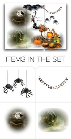 """Halloween"" by sarahguo ❤ liked on Polyvore featuring art"