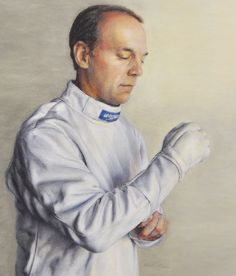 On Deck (The Veteran Fencer) Grand National, Fencing, American Artists, Art And Architecture, Deck, Pastel, Training, Artwork, Mens Tops