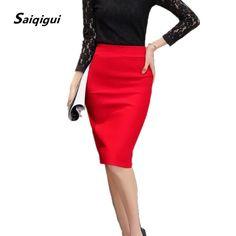 0131441777 Summer Autumn Women Skirts High Waist Work Slim Pencil Skirt Open Fork Sexy Office  Lady Skirts