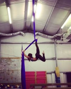 Silks poses into ankle drops