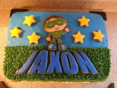 Super Why Cake With Handmade Sugar Cookie Decorations