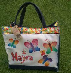 Bolsa de almuerzo realizada con telas recicladas y pintada - Bolsa de almuerzo ...