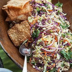 """Waka Waka Salad  """"I like to use Napa cabbage in this salad because it's nice and tender,"""" Guy says. """"If Napa cabbage isn't in your local grocery store, then go ahead and use regular green cabbage."""""""