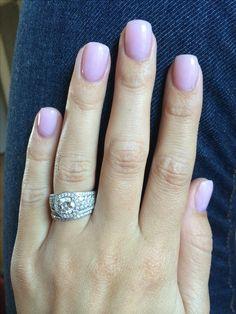 OPI gel nail polish 'bubble bath' Looks much more like lavender than the Bubble Bath I know Bubbles In Nail Polish, Opi Gel Nail Polish, Sns Nails, Cute Nails, Pretty Nails, Stiletto Nails, Coffin Nails, Acrylic Nails, Nail Nail