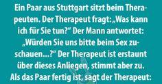 Ein Paar aus Stuttgart geht regelmäßig zum Therapeuten, um vor ihm Sex zu haben. Warum die Beiden das ...