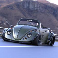 Chris Caburius - VW Käfer - Autos - Cool Cars & Bikes - Design de Carros e Motocicletas Carros Vw, Vw Cabrio, Beetle Convertible, Car Volkswagen, Modified Cars, Vw Beetles, Amazing Cars, Sport Cars, Custom Cars