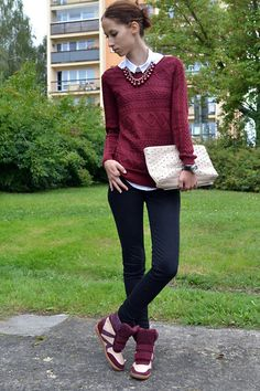 She has an oxblood in hers veins (by Karolina A.) http://lookbook.nu/look/4013962-She-has-an-oxblood-in-hers-veins