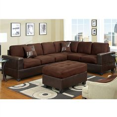 Sectional Sofa 3 Seat Sofa 2 Seat Loveseat with 2 Accent Pillows