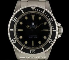 Rolex Stainless Steel O/P Black Dial Non-Date Submariner Gents 5513