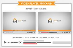 Video Player  Mockup by Plus Media on @creativemarket