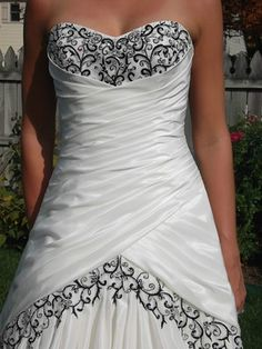 Sofia Tolli Black White Wedding Dress