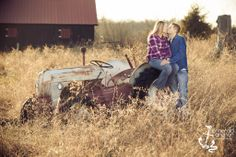 Emerald Anchor Photography - Ohio Engagement Photographer - Tractor and barn in a field pictures