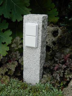 Gartensteckdose, garden socket genuine granite