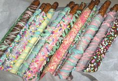 Easter Chocolate dipped Pretzel Rods | Flickr - Photo Sharing!