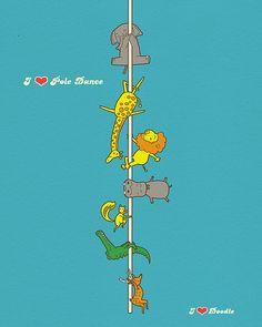 I Love Pole Dance by ILoveDoodle, via Flickr